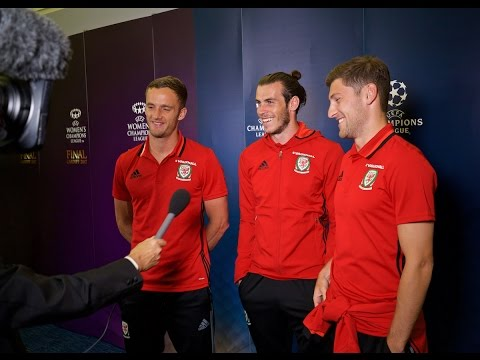 Gareth Bale, Ben Davies and Andy King on 2017 Champions League Final