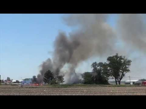 Fire on U S  Route 127 near Arcanum Ohio