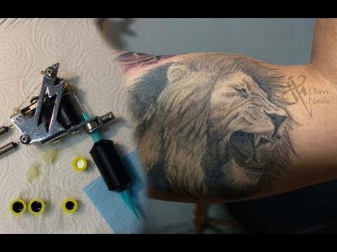 Timelapse Lion Tattoo