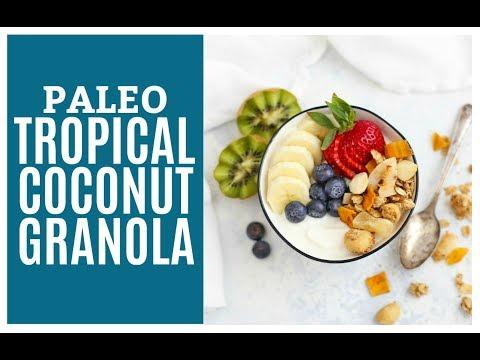 Tropical Coconut Granola with Mango & Pineapple (Gluten Free & Vegan)
