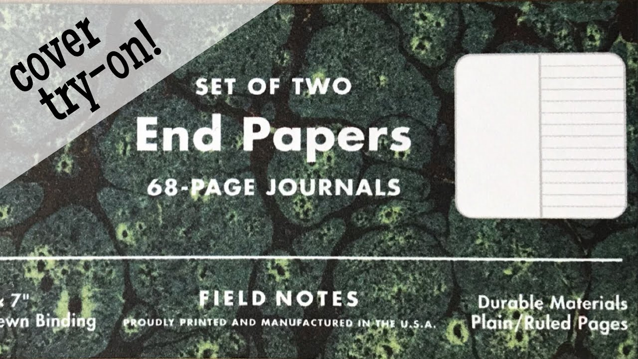 field notes end papers fall 2018 what covers do they fit in youtube