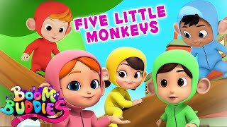 Five Little Monkeys jumping On The Bed Song And Videos for Kids from Boom Buddies