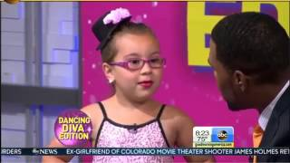 johanna colon 6 year old gma interview girl dances to aretha franklin s r e s p e c t respect song