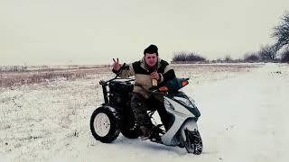 ПЕРЕДНИЙ АДАПТЕР для мотоблока или ТРАЙК своими руками // мотоблок зимой