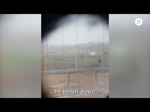 Motionless Palestinian Shot by Israeli Sniper to Sound of Soldiers' Cheers