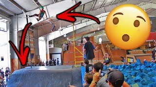 SCOOTER KID BAILS 12FT HIGH JUMP AT WOODWARD WEST