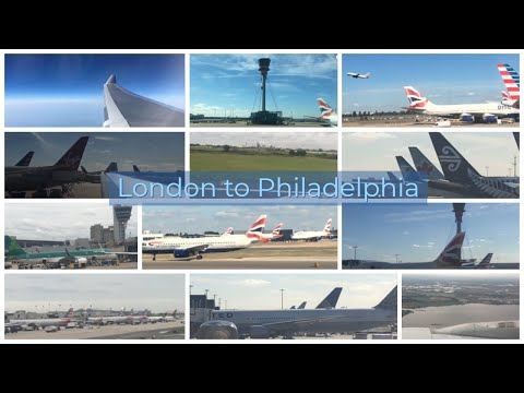 American Airlines Flight 737 From London To Philadelphia