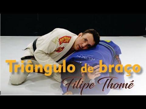 Triângulo de braço - Filipe Thomé - Jiu Jitsu - BJJCLUB