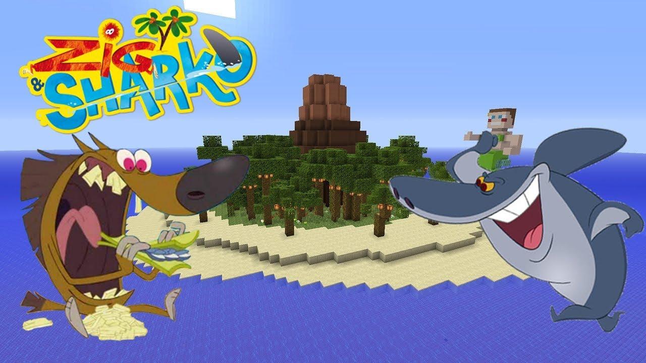Cache Cache Sur Minecraft Map Zig Et Sharko Episode 6 Zig Sharko Troll Kikoo Herobrine Ps4 Fr