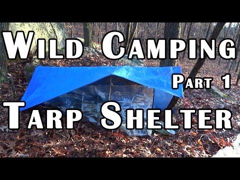Wild Camping Part 1 - Tarp Shelter Setup - Gear on a Budget - Deranged Survival