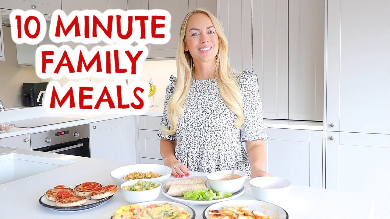 10 MINUTE FAMILY MEALS THAT YOU'LL LOVE! 😋 5 FAST DINNER IDEAS  |  Emily Norris