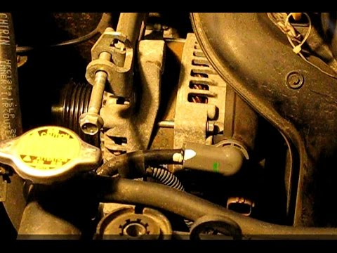 How to replace the alternator on a 18L Toyota Corolla, Matrix