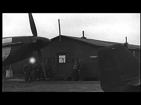 Pilots of USAAF 4th Fighter Group, finish briefing and go to their P-51s, during ...HD Stock Footage