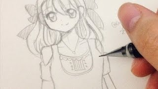 How to draw a Manga girl step by step in slow tutorial(Official Website: http://angieartmanga.weebly.com/ watch more draw anime girl: http://youtu.be/JTNgs9MeqYs https://youtu.be/tWy8jjNy7DM 如果你也想和我一樣 ..., 2015-05-27T12:03:54.000Z)