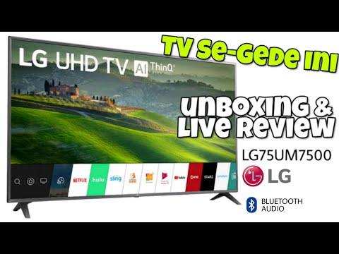 Unboxing dan Review Indonesia Big Size LG SMART TV 75UM7500PTA