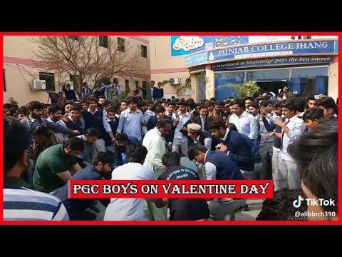 Punjab College Boys on Valentine Day Musically Tik Tok | PGC inside