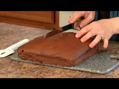 One layer chocolate cake