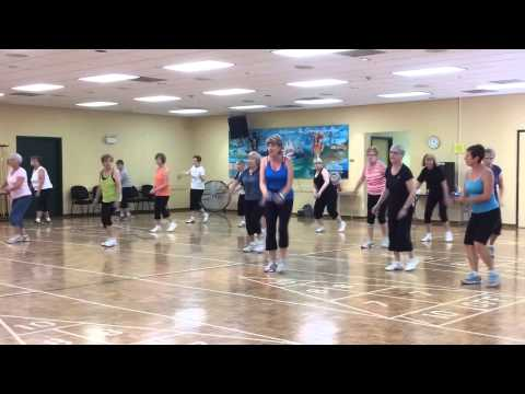 Aerobic Dance Workout..Dancing Queen and Conga..Dance Fit Gold...Beginners