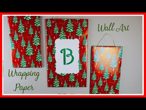 DIY Wrapping Paper Wall Art
