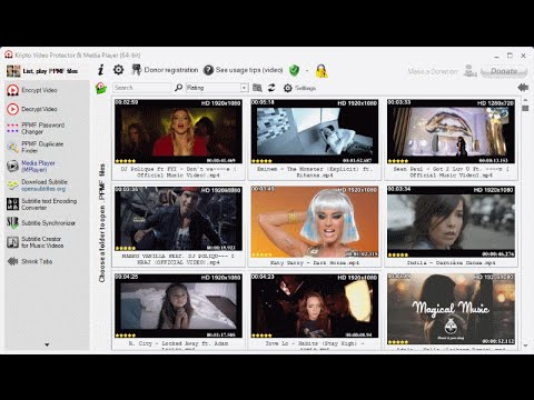 Protect your private video and audio files with password
