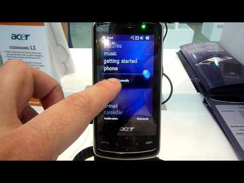 Acer L1 Windows Mobile 6.5 interface