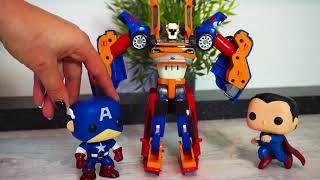 Машинки и роботы - трансформеры. Видео для детей с игрушками. Все серии подряд