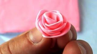 Лепим Розу из Полимерного Пластилина. Самый простой способ. Видео урок