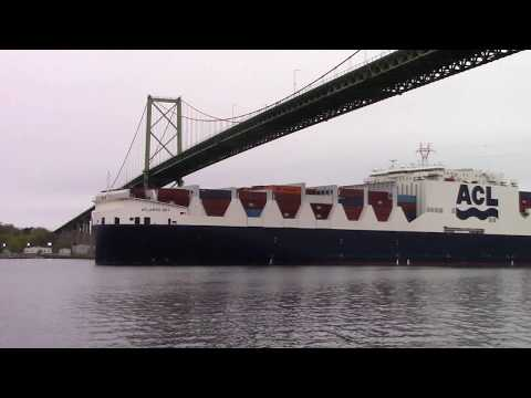 ATLANTIC SKY Maiden Voyage into Halifax, NS, Canada - Sea Level Shot (May 23, 2017)