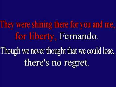 ABBA  Fernando  Instrumental Karaoke