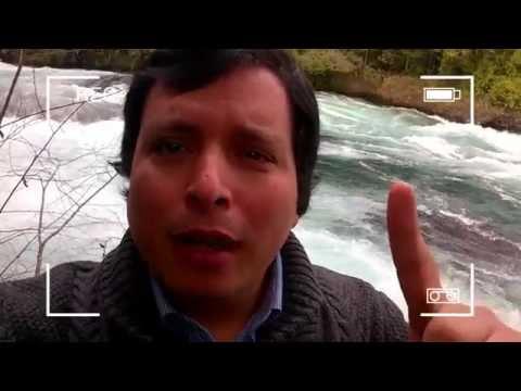 Comparación Río Fuy sin agua y con agua en Neltume