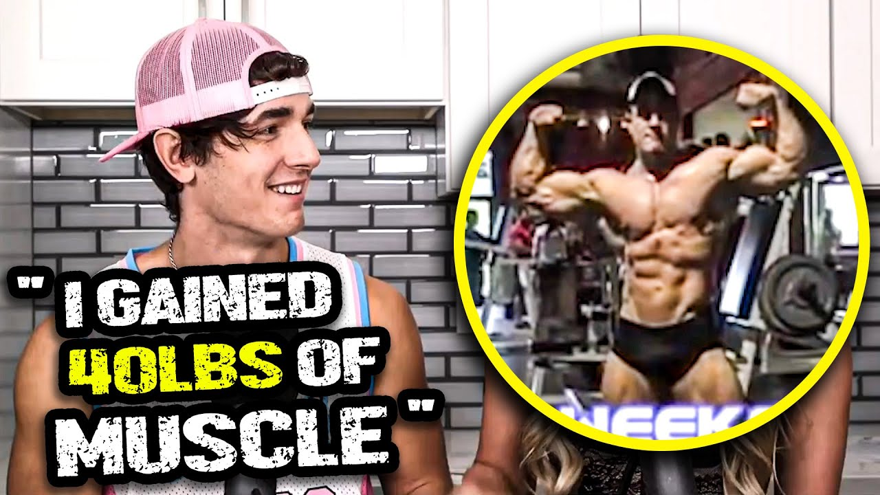 Bryce Hall Claims He Gained 40 Lbs Of Muscle On SARMs - What 40 Lbs ACTUALLY Looks Like