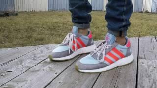 new styles d112f bfb0c Adidas Iniki Grey Trubo Gum On Feet