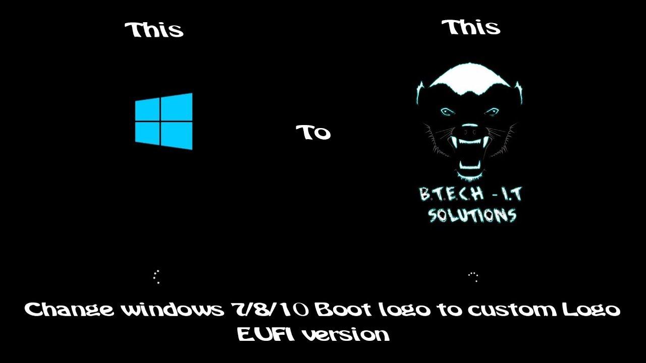 Windows 10 Boot Logo Change - UEFI Version
