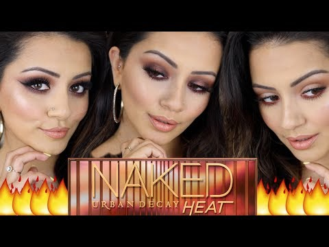 URBAN DECAY NAKED HEAT Palette Tutorial 🔥 3 Looks