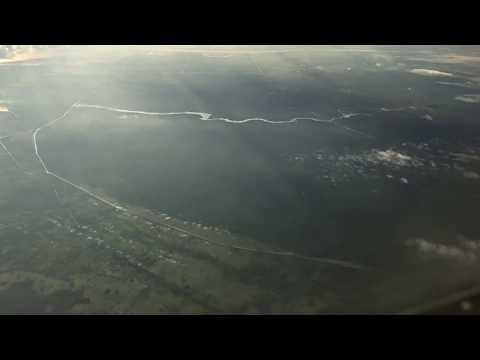 Landing at Guyana airport