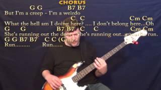 Creep (Radiohead) Bass Guitar Cover Lesson with Chords/Lyrics