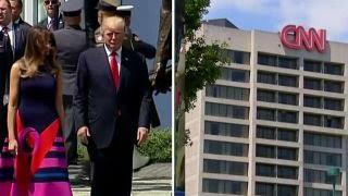 CNN-Trump feud continues on world stage