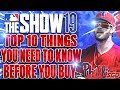MLB The Show 19 - 10 Things You NEED TO KNOW Before You Buy