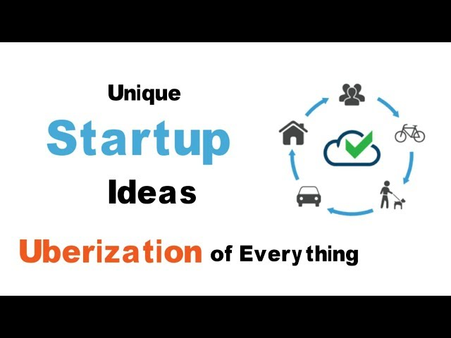Online Startup Ideas | Amazing Business Ideas | App Ideas | Uberization