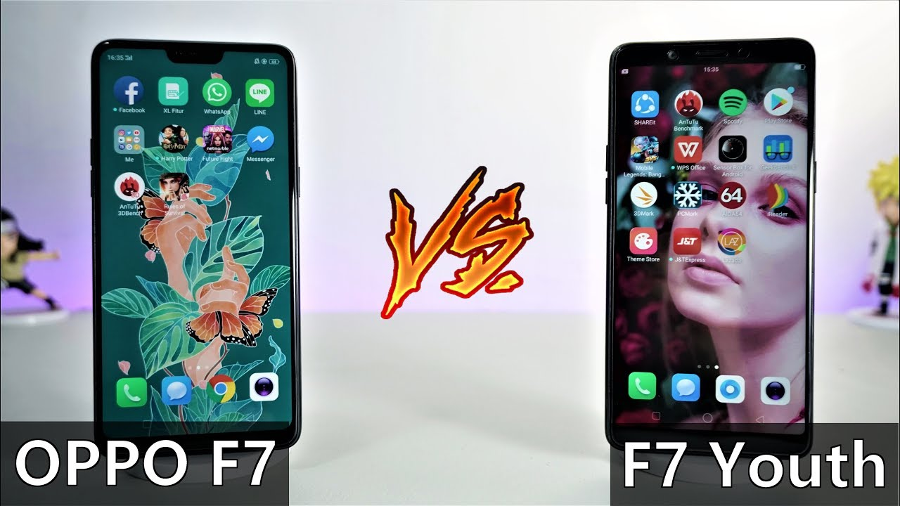 Speedtest Oppo F7 YOUTH vs Oppo F7 Indonesia - YouTube