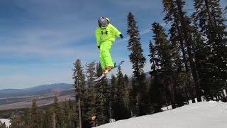 COOL VIDEO!! Little ski kids do HUGE jumps and tricks in terrain park