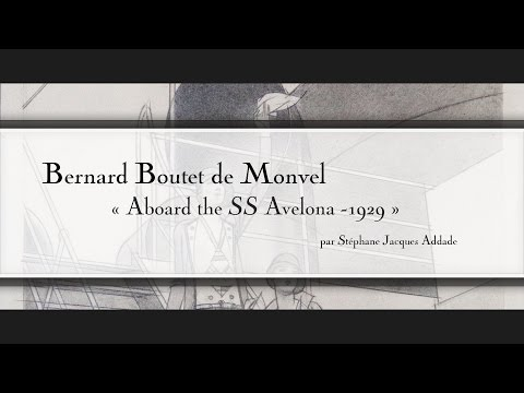 English - Bernard Boutet de Monvel - Aboard the SS Avelona - 1929