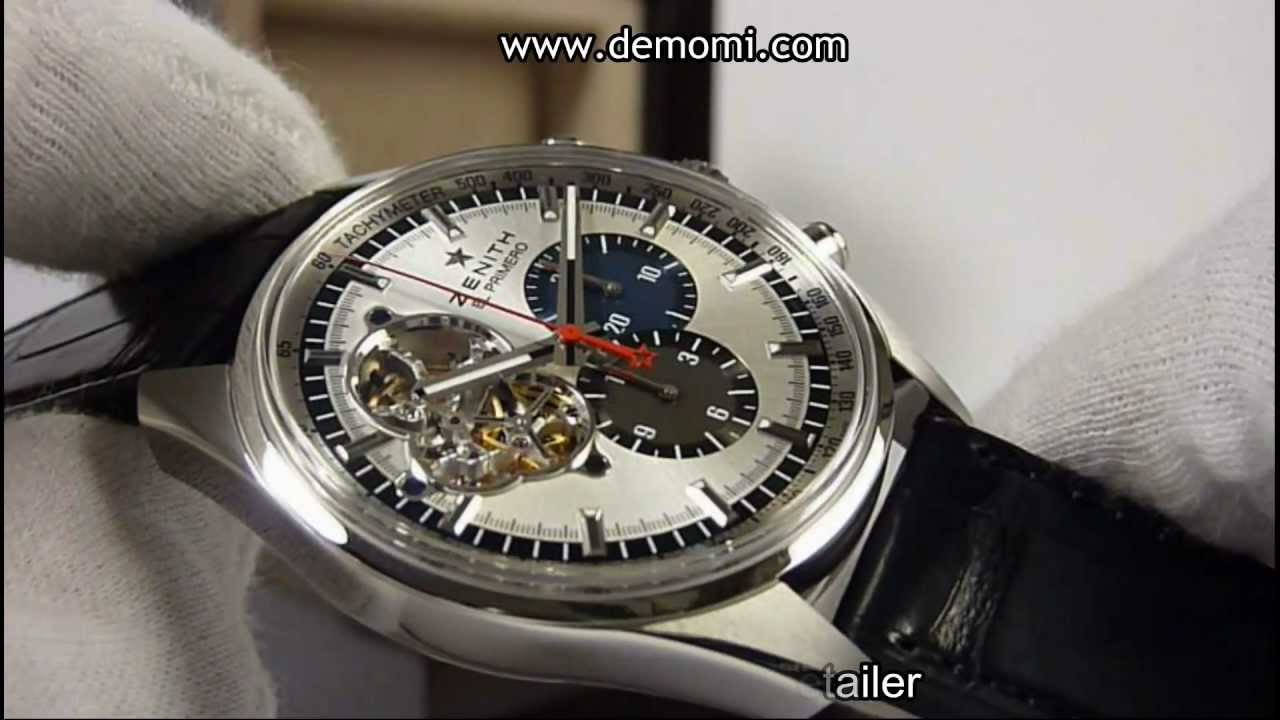 zenith chronomaster el primero 1969 youtube. Black Bedroom Furniture Sets. Home Design Ideas