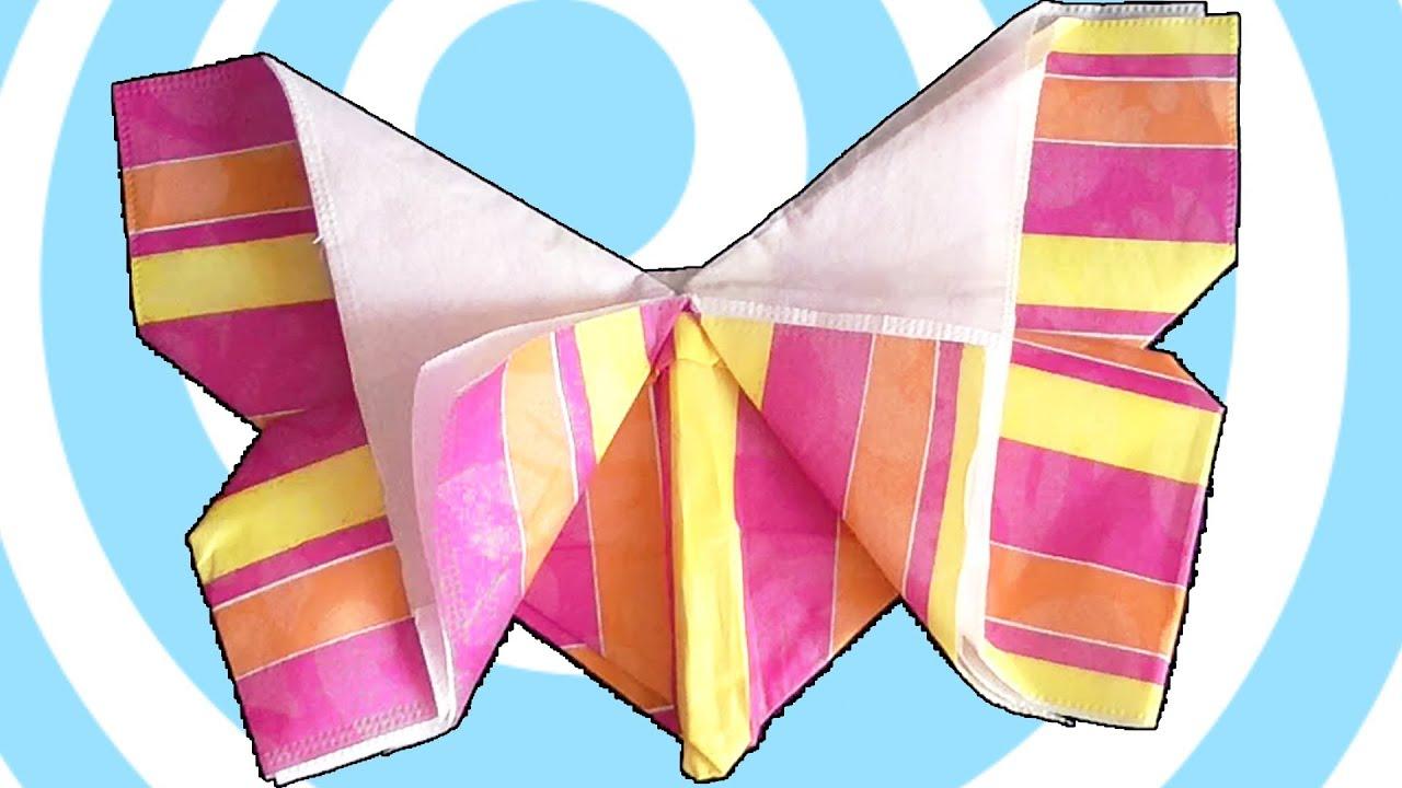 Origami Napkin Fold Butterfly Tutorial - YouTube - photo#23