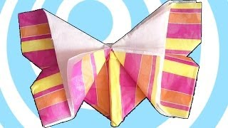 Origami Napkin Fold Butterfly Tutorial