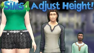 The Sims 4: Adjust Your Height! (Mod Showcase)