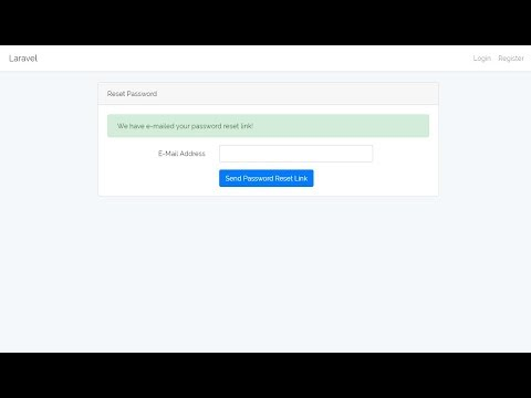 Email And Reset Password Auth With Laravel Part 10 Youtube