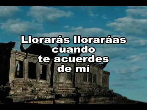 LOS TERRICOLAS - LLORARAS (Karaoke)