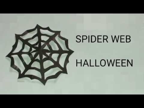 Paper SPIDER WEB| DIY | HALLOWEEN 🕷️🕸️🕸️🕸️