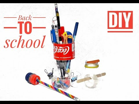 Back To School - 4 DIY School Supplies Out Of Plastic Bottles Tutorial